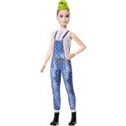 Mattel Barbie Fashionista. Bambola con Salopette Blu a Pois