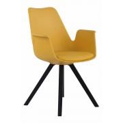 Timwood Experience Sedia da pranzo Prince in polipropilene, gambe quadrate, giallo CLP, giallo, altezza seduta