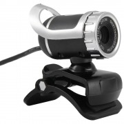 A859 Computer HD High Definition Video USB Camera Built-in Microphone - Silver