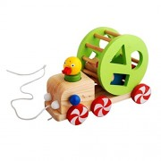 Street27 Kids Wood Duck Pull-Along Toy Baby/Toddler/Child Wooden Animal Walking Toys