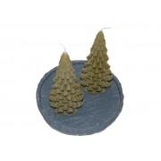 Kerstboom Kaars Ancient Green 200x100 mm