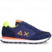 Sun68 Scarpe Uomo Sneakers Tom Fluo Navy Blue