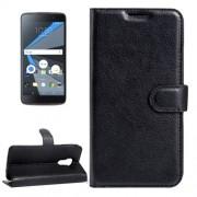 For BlackBerry DTEK60 Litchi Texture Horizontal Flip Leather Case with Magnetic Buckle & Holder & Card Slots & Wallet(Black)