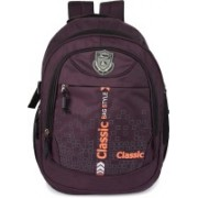 Classic Polyester Multi Pocket School Bag |Casual Bag | Shoulder Backpacks for Girls & Boys 36 L Backpack(Purple)