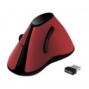 Mouse Verticale Ottico Ergonomico Wireless 1200dpi Rosso