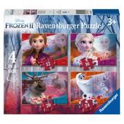 Puzzle Ravensburger 4 in 1 Frozen II, 12/16/20/24 piese