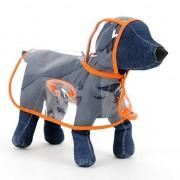 Waterdichte transparante huisdier regenjas regen slijtage Poncho doek XL harnas borst lengte: 45cm lengte terug: 37cm huisdier gewicht: 4.5-5.5kg(Orange)