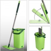 Smile Mom Easy Flat Mop Stick Rod with Bucket Set in Offer for Wet Dry Use Best 360 Degree Spin Magic Floor Cleaning