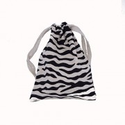 SanAndCo Red Blue Pink Tangle Jr. Textured Fidget Toy in Zebra Stripe Animal Print Carry Bag