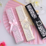 White Silk Fan with Elegant Gift Box