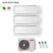 Ariston CLIMATIZZATORE CONDIZIONATORE TRIAL SPLIT INVERTER ARISTON 9+9+12 ALYS PLUS 9000+9000+12000 BTU CON TRIAL 80 XD0B-O