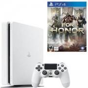 Конзола SONY PlayStation 4 Slim, 500GB, Бяла + Игра For Honor, За Playstation 4