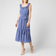 MICHAEL MICHAEL KORS Women's Mini Railroad Maxi Dress - Twilight Blue - S - Blue