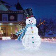 7Ft (2.1 M) 329 Led Indoor/Outdoor Pop Up Christmas Snowman Decoration