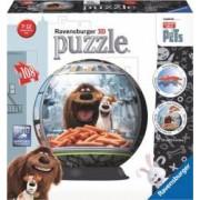 PUZZLE 3D VIATA SECRETA A ANIMALELOR 108 PIESE Ravensburger