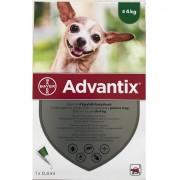 1 pipeta Advantix caini sub 4 kg (Advantix 40)