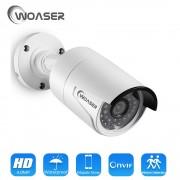 WOASER H.265 CCTV 4.0MP OV4689 48V POE IP Camera 2592*1520 IR In/Outdoor ONVIF Waterproof HD Video Security Surveillance Camera