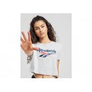 Reebok Vector Crop T-Shirt Dames - Grey - Dames