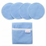 NuAngel Flip & Go Nursing Pad Case with Nursing Blanket and Nursing Pad Set, Blue Part No. NA00971PP Qty Per Package
