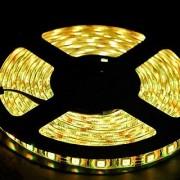 12V Flexible LED Strip Lights LED Tape Warm White IP65 Waterproof 300 Units 3528 LEDs Light Strips 5 Meters (16.4 Feet)