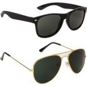 Voyage Aviator Sunglasses(Green, Golden)