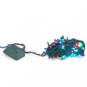 Instalatie pentru Craciun Multicolora cu 100 LED-uri Lungime 10m 8 Moduri de Iluminare