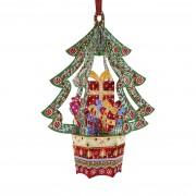 Karácsonyfadísz Üdvözlőlap - Presents Tree