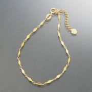 18K クロッシー ロゼンジ デザイン ブレスレット【QVC】40代・50代レディースファッション