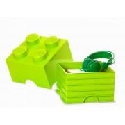 40031220 Cutie depozitare LEGO 4 verde deschis