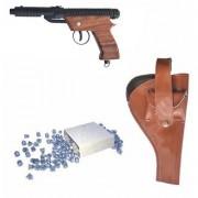 Prijam Air Gun Ew-007 Model With Metal Body For Target Practice Combo Offer 300 Pellets With Cover Air Gun