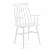Kave Home Silla con brazos Tressia blanca