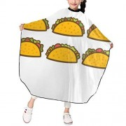 """KATEJ Professional Barber Cape Salon Aprons Taco Mexican Foods Boys Girls Hair Styling Haircut Gown For Cutting Coloring Perming Hairdresser Shampoo Proof 39"""" X 47"""