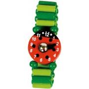 Set van 4 houten horloges lieveheersbeestje