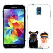 Husa Samsung Galaxy S5 G900 G901 Plus G903 Neo Silicon Gel Tpu Model Bebelus Si Caine Bandana