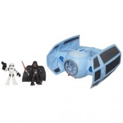 Playskool Heroes, Star Wars, Jedi Force, Darth Vaders Tie Fighter With Stormtrooper And Darth Vader Action Figures