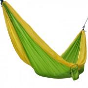 Sunfield dos personas nylon hamaca de camping al aire libre - verde