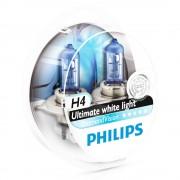 2 ampoules PHILIPS H4 Diamond Vision 55W