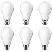 NIPSER 9 Watt Premium Led Bulbs 900 lumens pack of 6 with 1 year warranty