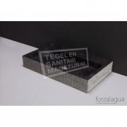 Forzalaqua Taranto Wastafel 50 cm Hardsteen Gefrijnd 50x30x8 cm 1 wasbak zonder kraangaten