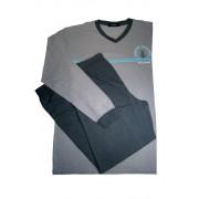 Vintage pyžamo s dlouhým rukávem AH7815-V XXL světle šedá