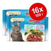 Бонус опаковка Stuzzy Сat паучове 16 x 100 г - пиле, телешко, шунка, говеждо