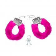 Algema De Metal Em Pelúcia Fur Love Cuffs