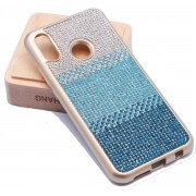 Teleplus Huaweı P20 Lite Matte Laser Silicone Case Blue + Nano Screen Protector hoesje