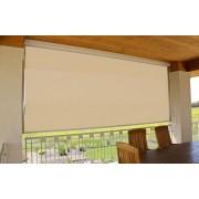 Store vertical enrouleur extérieur pour terrasse ou balcon - 1,4 x 2,5 m - Blanc laqué - Dune