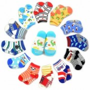 IMPORTED Ideal Ideas Kids Grip Socks Pack of 6 (Colors Design May Vary) Cute Socks In Best Quality - ( 0 - 1 Year )