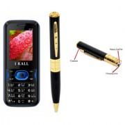 IKall K12 (Dual Sim 1.8 Inch Display 800 Mah Battery Spy Pen Camera)