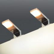 vidaXL 2 db tükörlámpa 2 W meleg fehér