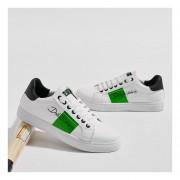 Zapatos Fashion-Cool Para Hombre-Blanco Y Verde
