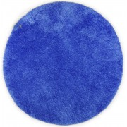 Covor Shaggy Soft, Rotund, Albastru, 140x140