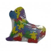 Fa puzzle kutya